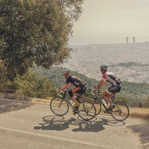 Enjoy the views and fresh air just outside of Barcelona cycling Collserola and Tibidabo mountain