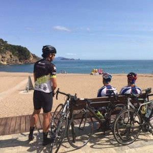 GPS pre-loaded route to cycle from Terra BikeTours heading North to Sant Pol de mar