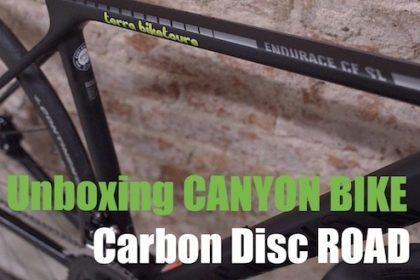 Unboxing a Canyon carbon disc road bike