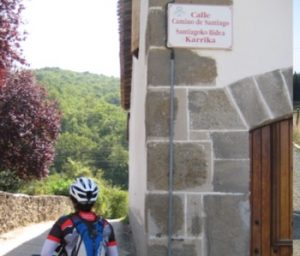 The Camino by bicycle passing through Navarra villages