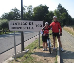Beginning of the Camino by bicycle